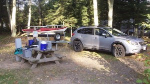 canoe trailer outdoors