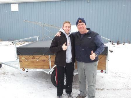 Illinois kayak trailer