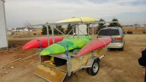 custom kayak trailer